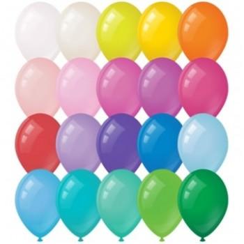 Воздушные шары с гелием с выбором цвета