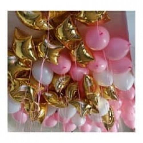 """Воздушные шары с гелием """"Звезды принцессы"""""""