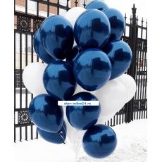 Шары Белые-Синие эффект стекла
