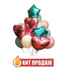 "Букет шаров ""Pink Love"""