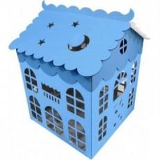 Коробка для воздушных шаров Домик, Голубой, 70х70 см