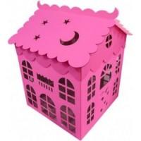 Коробка для воздушных шаров Домик, Розовая, 70х70 см