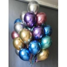 Воздушные шарики с гелием Хром ассорти