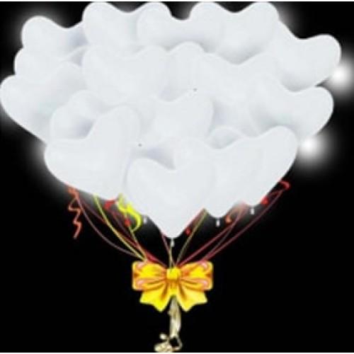 Светящиеся шары сердца белые