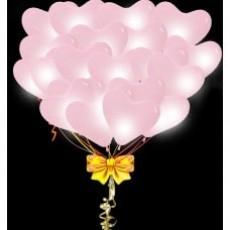 Светящиеся шары сердца розовые