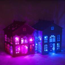 Коробка со светящимися шарами размер 70х70 см - Новинка !