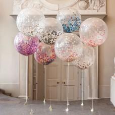 Большие метровые шары с конфетти