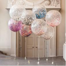 Большие шары с конфетти размер 100 см