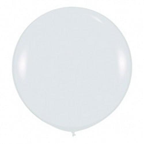Шар большой Белый пастель 100 см