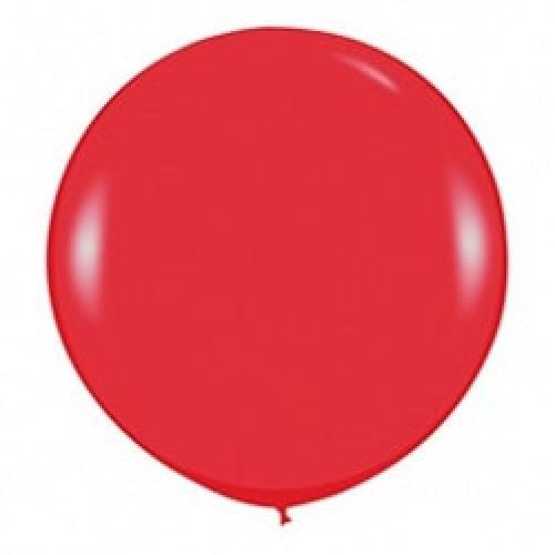 Шар большой Красный пастель 100 см