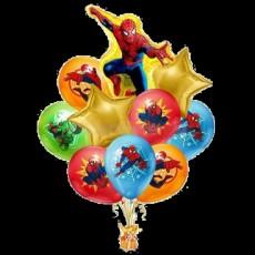 Букет шаров Человек Паук