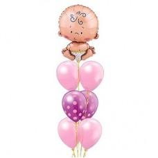 Букет шаров Наш малыш для девочки