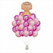 Букет шариков Рождение девочки