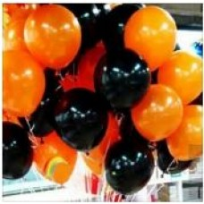 Облако шаров чёрные оранжевые