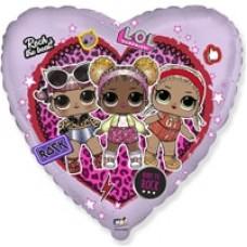 Шар сердце Куклы LOL  46 см