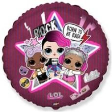 Шар круг Кукла LOL  Диско 46 см