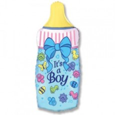 "Шар ""Бутылочка для мальчика"" синий 81 см"