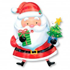 "Шар ""Санта с ёлкой"" 71 см"