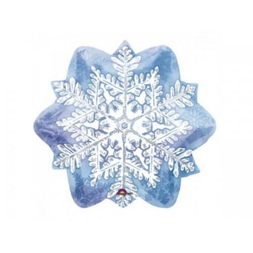 """Шар """"Снежинка голубая"""" 45 см"""