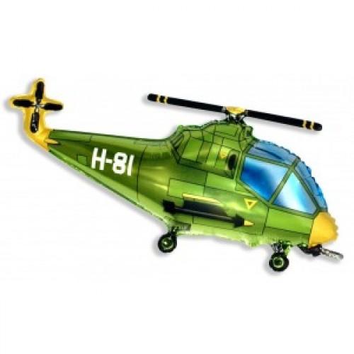 Шар Вертолет зеленый 99 см