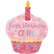 Большой торт с днем рождения для девочки 90 см