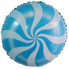 """Шар Круг """"Леденец"""" голубой 46 см"""