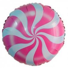 "Шар Круг ""Леденец"" розовый 46 см"