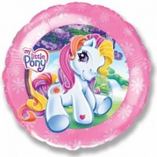 """Шар круг """"Моя маленькая пони"""" розовый."""