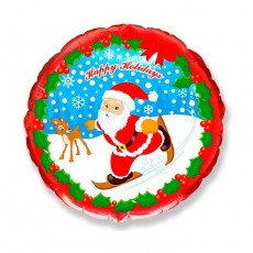 "Шар ""Санта на лыжах"" 46 см"
