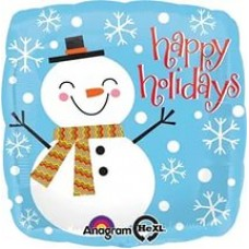 "Шар ""Счастливый Снеговик"" 46 см"