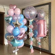 """Композиция из шаров """"Важный День Рождения"""""""