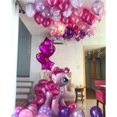 """Готовая композиция из шаров """"Pony Pinkie Pie"""""""