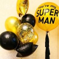 """Композиция из шаров """"моему Супермену"""""""