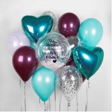 """Букет из воздушных шаров с гелием """"Мятный Микс"""""""