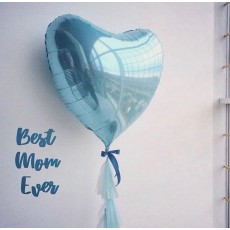 """Большое """"Голубое сердце 86 см"""" с тассел гирляндой"""