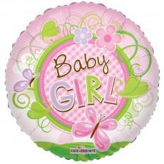 """Фольгированный шар """"Baby girl"""""""