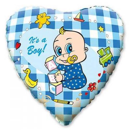 """Фольгированный шар """"It's a boy"""""""