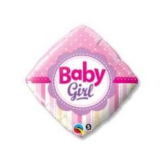 """Фольгированный шар """"Ромб Baby girl"""""""
