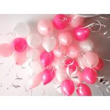 """Воздушные шары для девочки """"Белые-Розовые-Нежно розовые"""""""