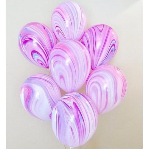 """Облако розовых шаров с гелием  """"Fashion"""""""
