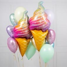 """Букет из гелиевых шаров """"Мороженое"""""""