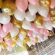 """Воздушные шары с гелием """"Белое золото"""""""