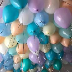 """Воздушные шары с гелием """"Нежные тона"""""""