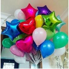 """Композиция из воздушных шаров """"Яркий день рождения"""""""