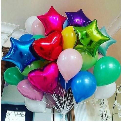 """Композиция из воздушных шариков """"Яркий день рождения"""""""