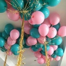 """Воздушные шары с гелием """"Бирюза"""""""