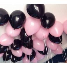 """Шары с гелием под потолок """"Black Pink"""""""