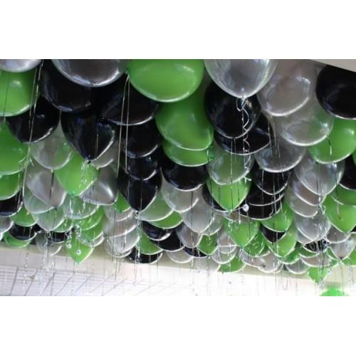 """Шары под потолок """"Зелёный Микс"""""""