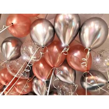 """Воздушные шары с гелием """"Клубника со сливками"""""""