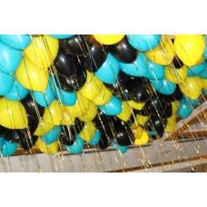 """Воздушные шары с гелием """"Жёлтые облака"""""""